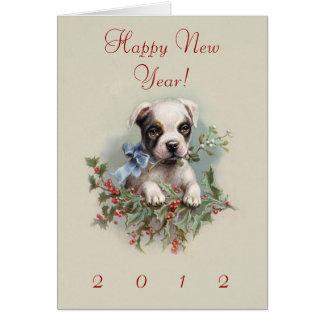 Filhote de cachorro de Boston Terrier - o cão Cartão Comemorativo