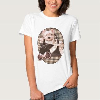Filhote de cachorro de Houndstooth Westie T-shirts