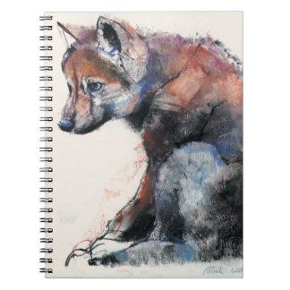 Filhote de cachorro de lobo polonês 2001 caderno