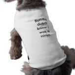Filhote de cachorro de Ninja Camisa Sem Mangas Para Cachorro