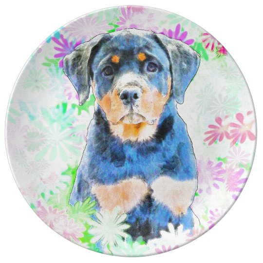 Filhote de cachorro de Rottweiler Louça