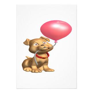Filhote de cachorro do aniversário convites