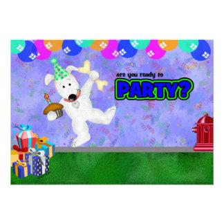 Filhote de cachorro do aniversário convites personalizado