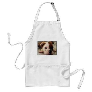 Filhote de cachorro do buldogue avental