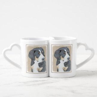Filhote de cachorro do cão de montanha de Bernese Conjunto De Caneca De Café