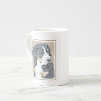 Filhote de cachorro do cão de montanha de Bernese Xícara De Chá