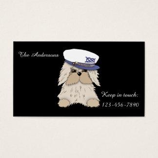 Filhote de cachorro do marinheiro no Chapéu do Cartão De Visitas