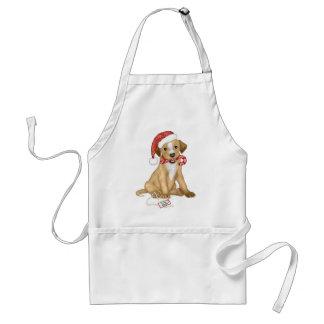 Filhote de cachorro do Natal Avental