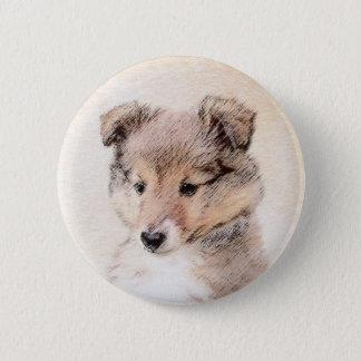 Filhote de cachorro do Sheepdog de Shetland Bóton Redondo 5.08cm