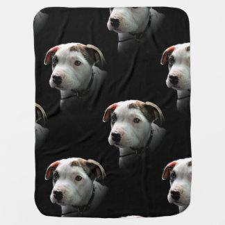 Filhote de cachorro do T-Osso do pitbull Cobertores Para Bebe
