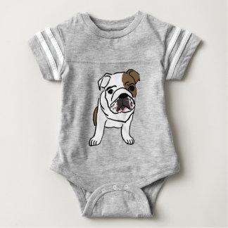 Filhote de cachorro inglês personalizado do body para bebê