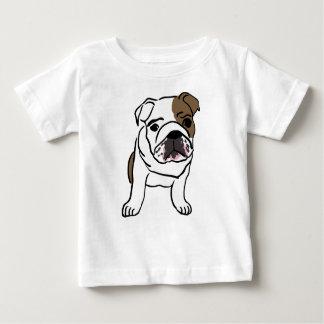 Filhote de cachorro inglês personalizado do camiseta para bebê