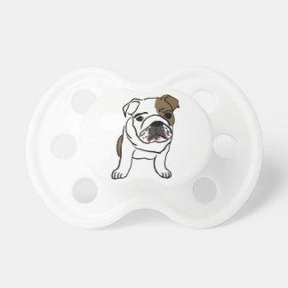 Filhote de cachorro inglês personalizado do chupeta