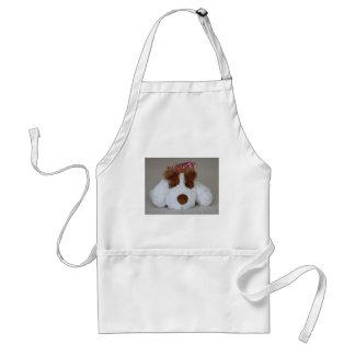 Filhote de cachorro macio do brinquedo avental