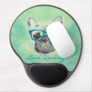 Filhote de cachorro na moda engraçado legal do bul mousepad de gel