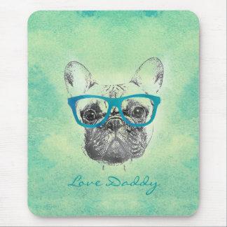 Filhote de cachorro na moda engraçado legal do bul mousepad