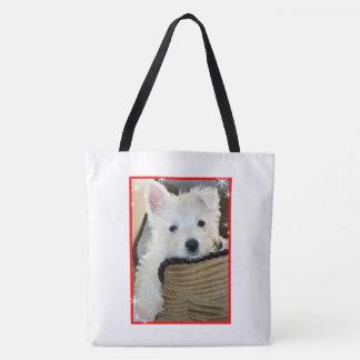 Filhote de cachorro Saco-Bonito de Westie do bolsa