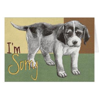 """Filhote de cachorro triste """"eu sou"""" cartão"""