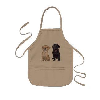 filhotes de cachorro avental infantil