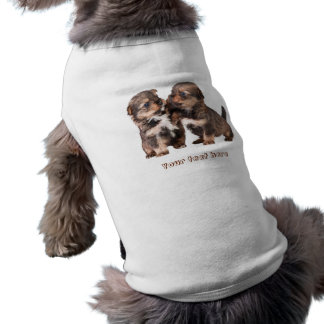 Filhotes de cachorro bonitos de Yorkshire Camisa Sem Mangas Para Cachorro