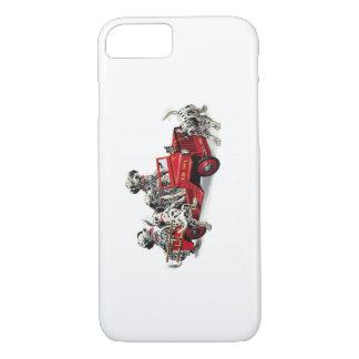 Filhotes de cachorro Dalmatian com carro de Capa iPhone 7