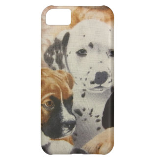 Filhotes de cachorro do Dalmatian & do pugilista Capa Para iPhone 5C