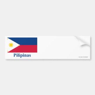 Filipinas embandeiram com nome no filipino adesivo para carro