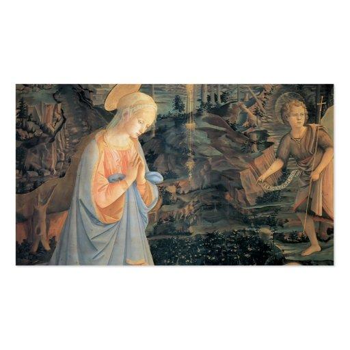 Filippo Lippi- a adoração do Jesus infantil Modelos Cartão De Visita