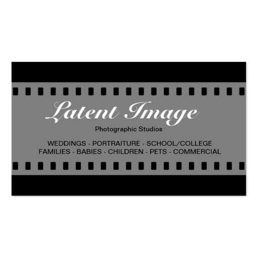 filme 010 de 35mm modelo cartões de visitas