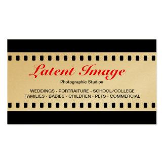 filme de 35mm ouro cartões de visitas