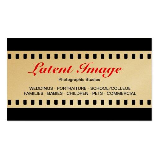 filme de 35mm (ouro) cartões de visitas