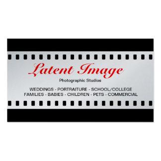 filme de 35mm platina cartoes de visitas