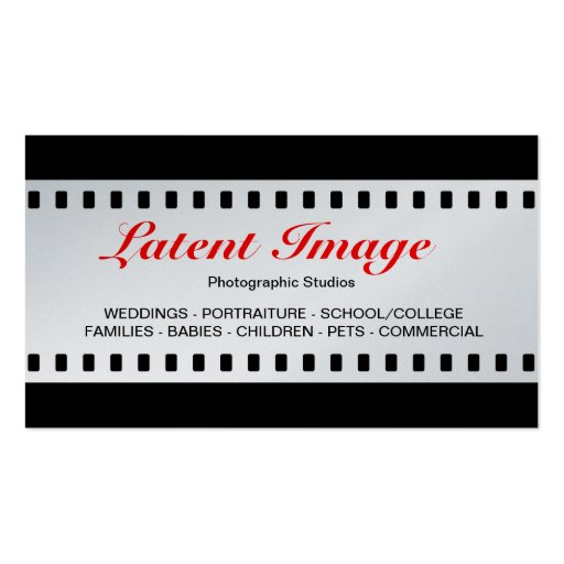filme de 35mm (platina) cartoes de visitas