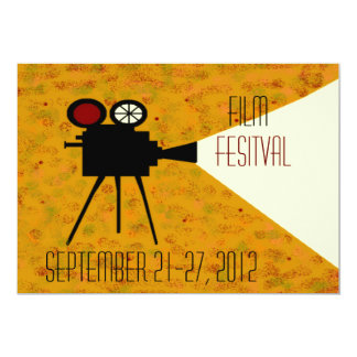 Filme do teatro do filme da câmera convite 12.7 x 17.78cm