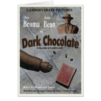Filme escuro do chocolate cartões