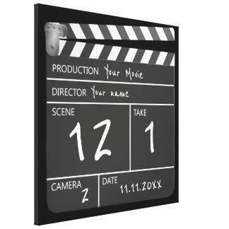 Filme original personalizado novidade Clapperboard Impressão Em Canvas