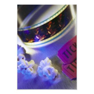Filme, pipoca & bilhetes do cinema convite 8.89 x 12.7cm
