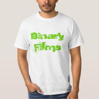 Filmes binários camisetas