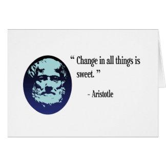 Filosofia de Aristotle - mude é cartão doce