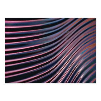 Fim-acima da bacia de vidro moldada convite 12.7 x 17.78cm
