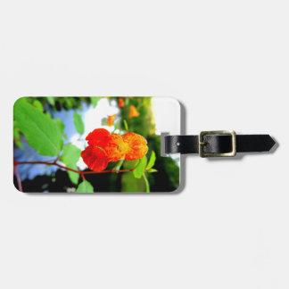 Fim-Acima da flor do Jewelweed Etiqueta De Bagagem