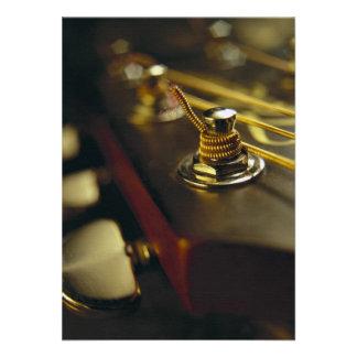 Fim-Acima do Headstock da guitarra acústica Convite Personalizados