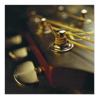 Fim-Acima do Headstock da guitarra acústica Convite Quadrado 13.35 X 13.35cm