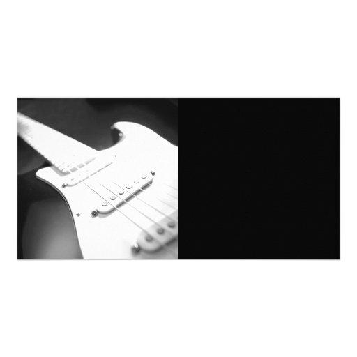 Fim-Acima monocromático 1 da guitarra elétrica de  Cartao Com Fotos