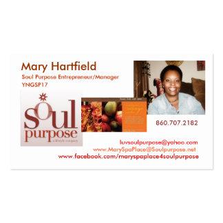 Finalidade da alma de Mary Hartfield Cartão De Visita