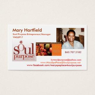 Finalidade da alma de Mary Hartfield Cartão De Visitas