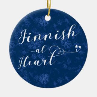 Finlandês no coração, ornamento da árvore de