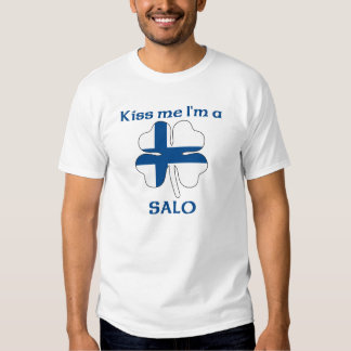 Finlandeses personalizados beijam-me que eu sou camisetas