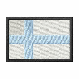 Finlandia Camiseta Bordada Polo