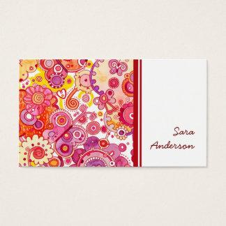 Fino bonito cartão de visitas